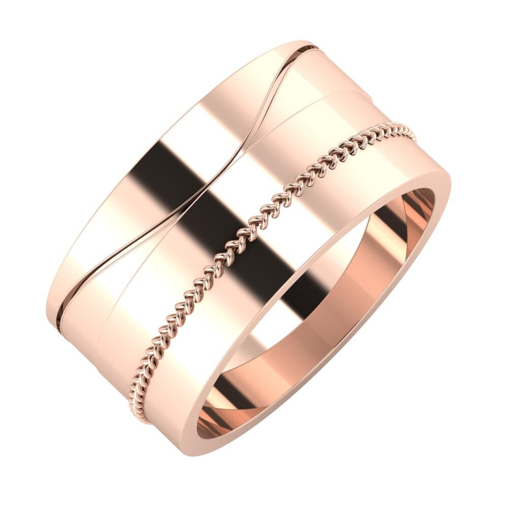 Adelinda - Áfonya 10mm 18 karátos rosé arany karikagyűrű