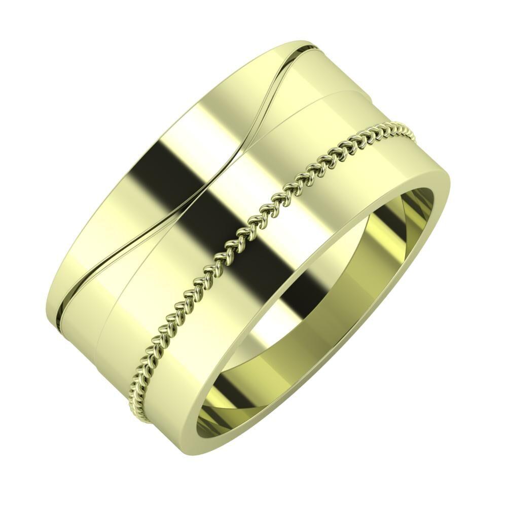 Adelinda - Áfonya 10mm 14 karátos zöld arany karikagyűrű