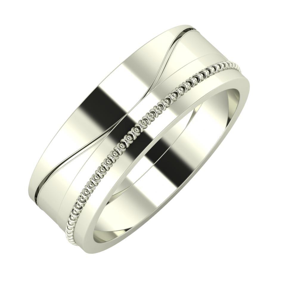 Adelinda - Afrodita 7mm 18 karátos fehér arany karikagyűrű