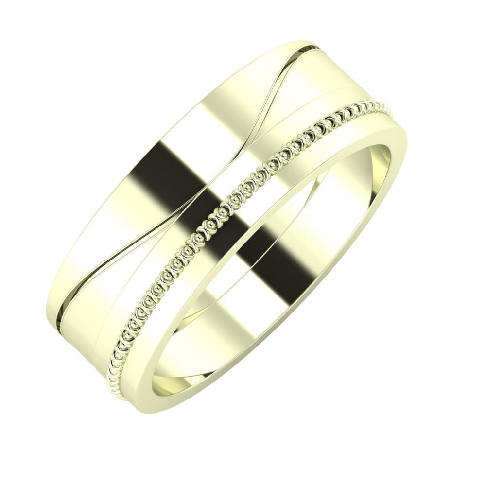Adelinda - Afrodita 7mm 22 karátos fehér arany karikagyűrű