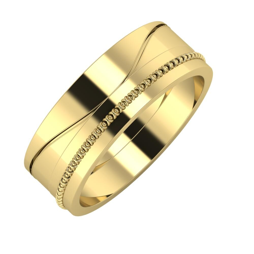Adelinda - Afrodita 7mm 14 karátos sárga arany karikagyűrű