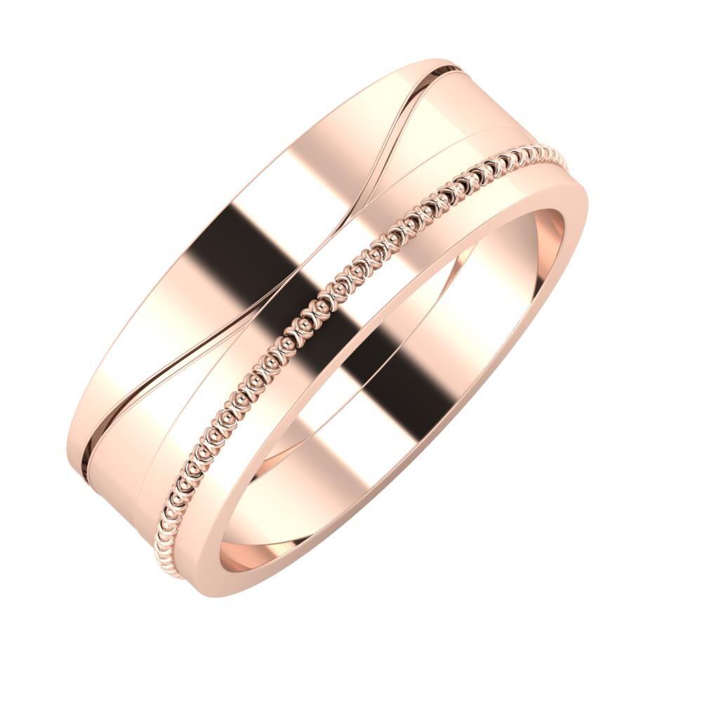 Adelinda - Afrodita 7mm 14 karátos rosé arany karikagyűrű