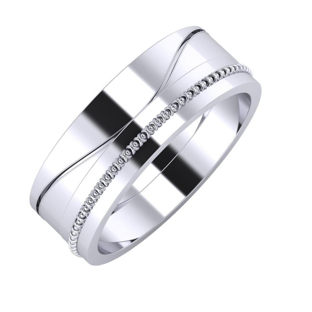 Adelinda - Afrodita 7mm platina karikagyűrű