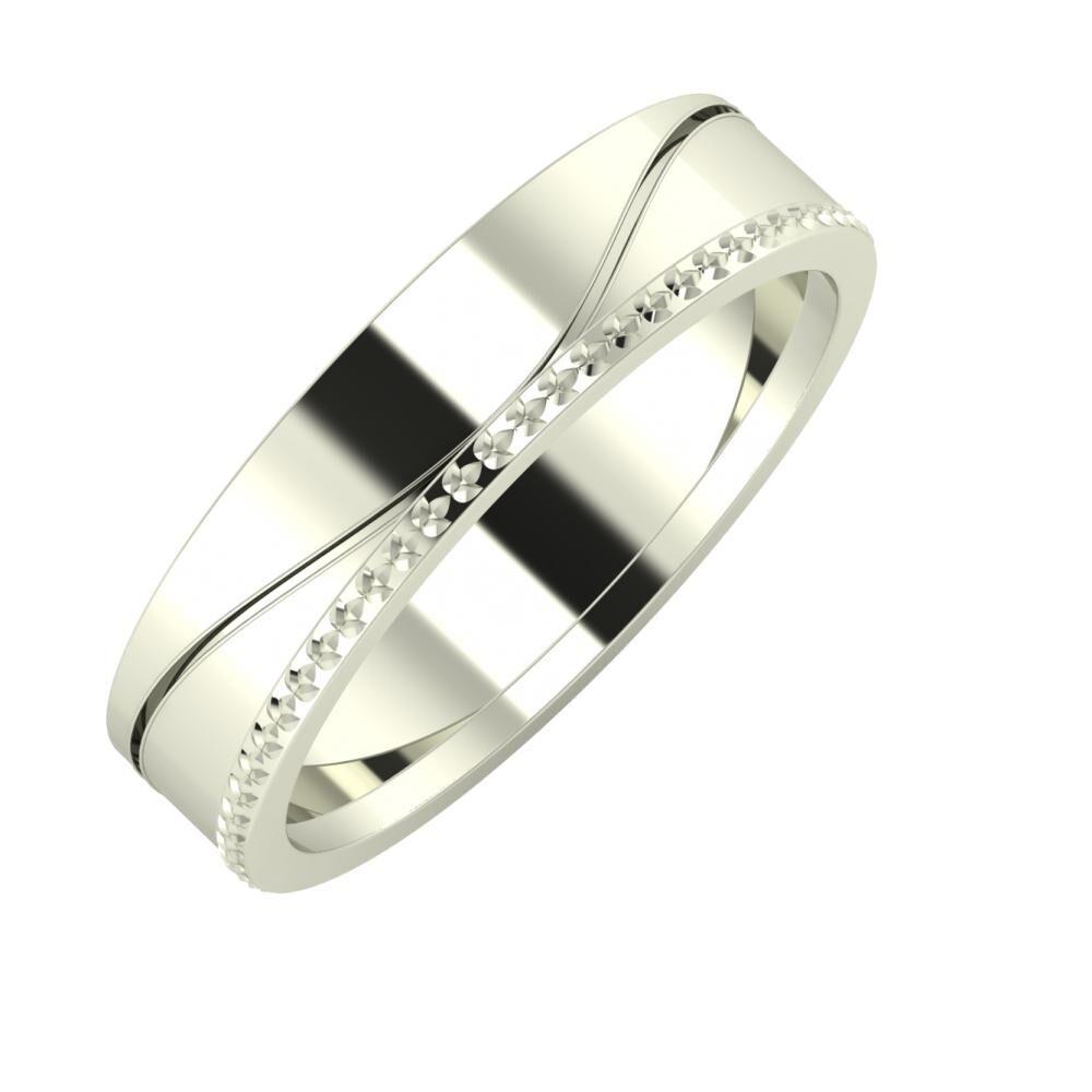 Adelinda - Ági 5mm 18 karátos fehér arany karikagyűrű