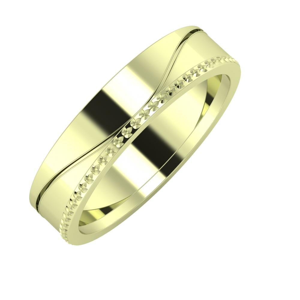 Adelinda - Ági 5mm 14 karátos zöld arany karikagyűrű