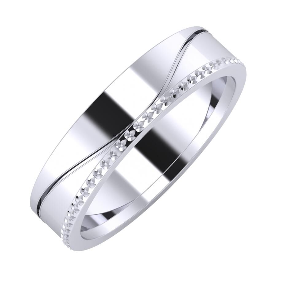 Adelinda - Ági 5mm platina karikagyűrű