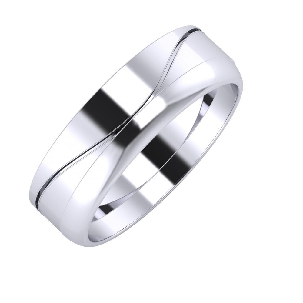 Adelinda - Ágosta 6mm platina karikagyűrű