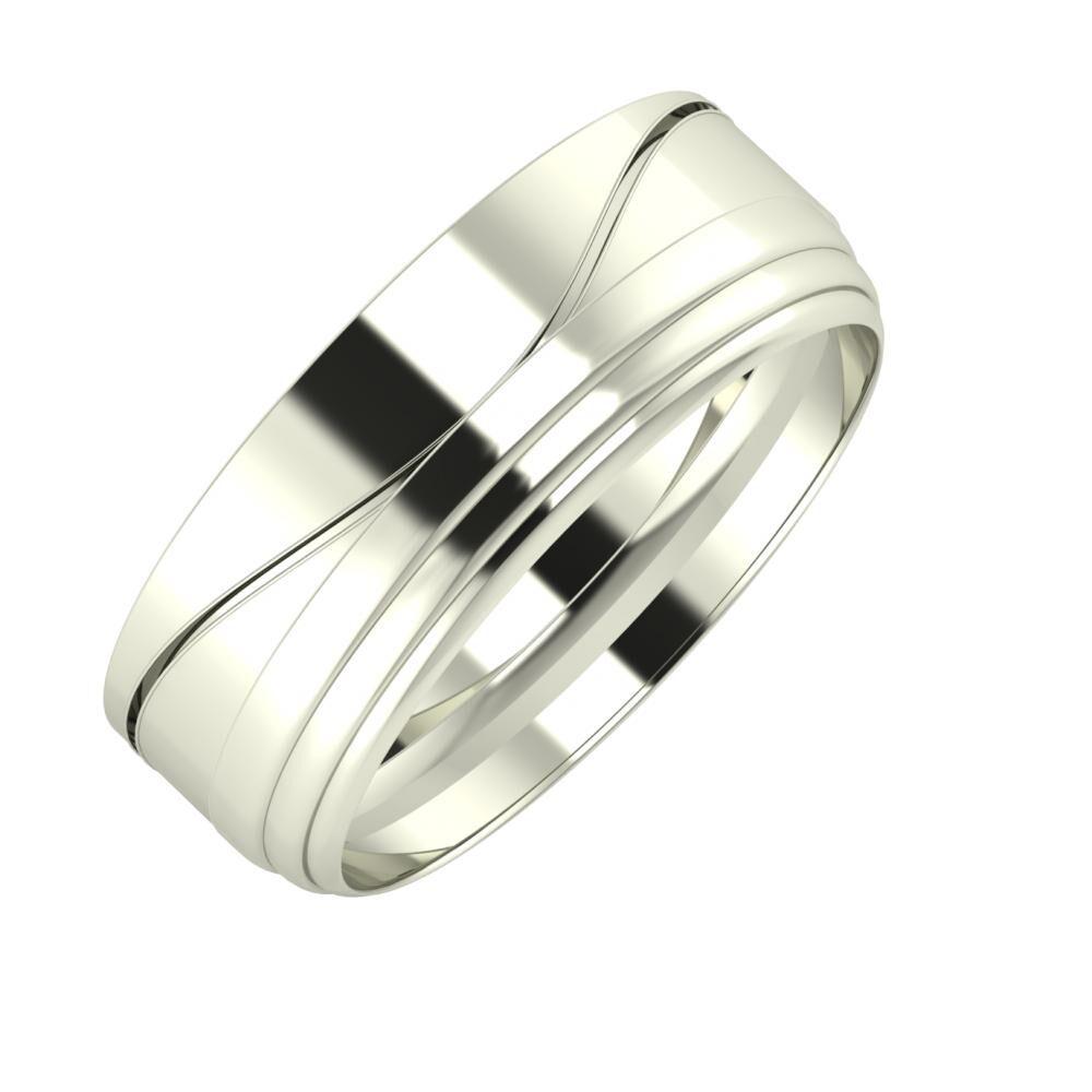 Adelinda - Aina 7mm 14 karátos fehér arany karikagyűrű