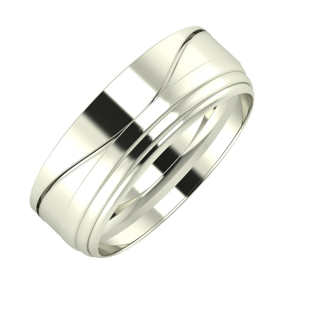 Adelinda - Aina 7mm 18 karátos fehér arany karikagyűrű