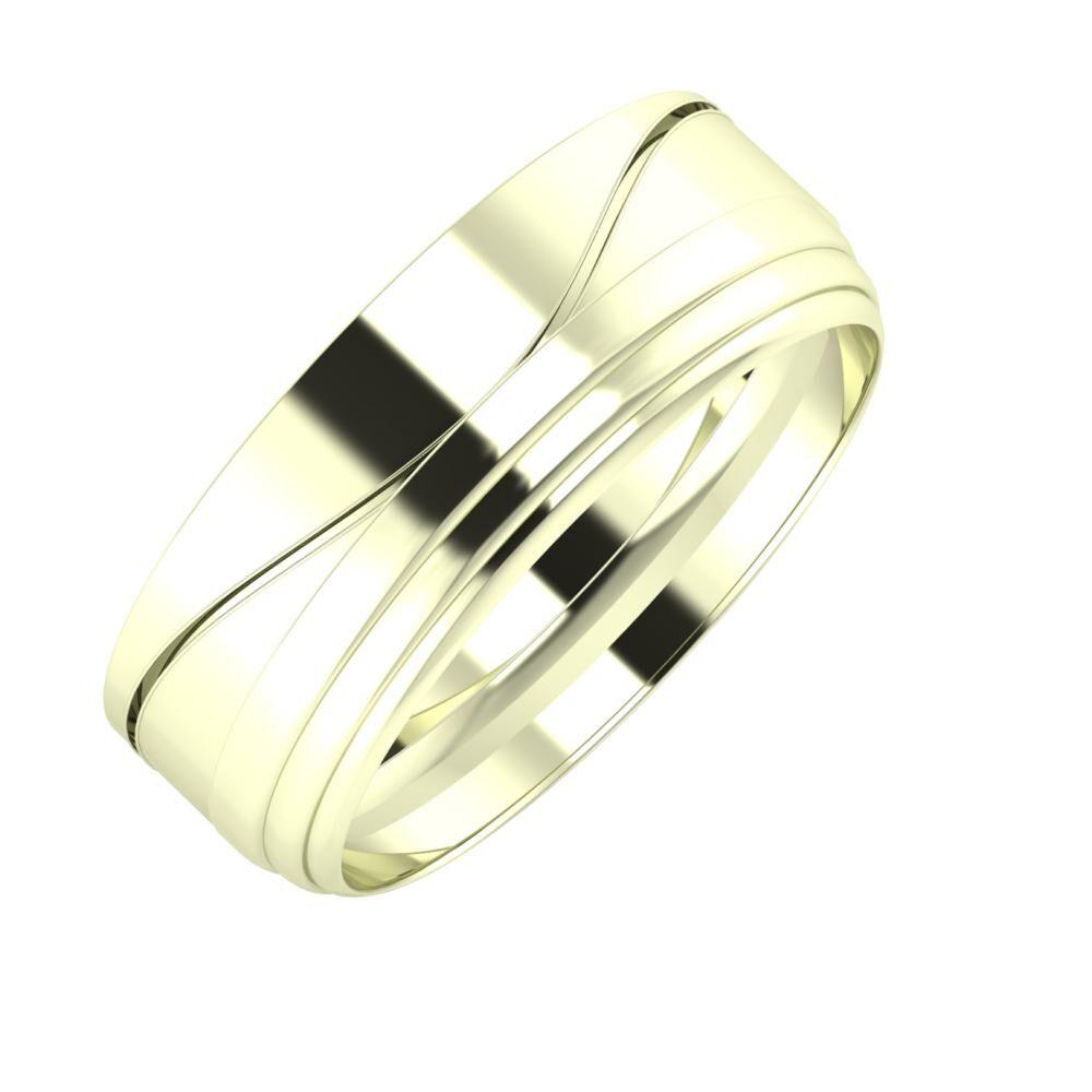 Adelinda - Aina 7mm 22 karátos fehér arany karikagyűrű