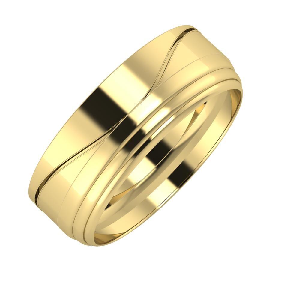Adelinda - Aina 7mm 14 karátos sárga arany karikagyűrű