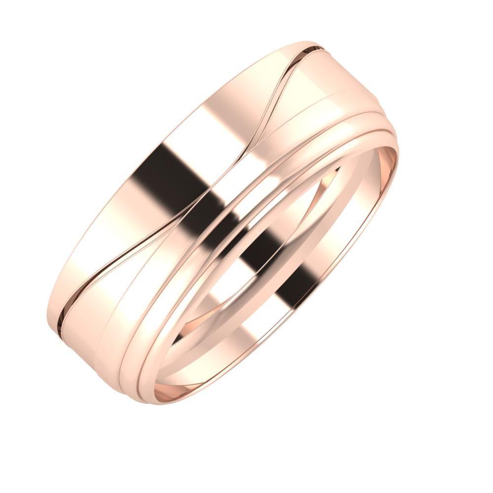 Adelinda - Aina 7mm 14 karátos rosé arany karikagyűrű