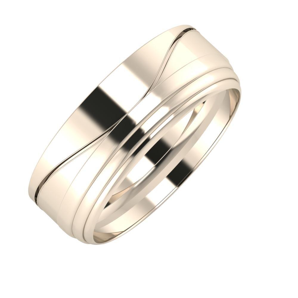 Adelinda - Aina 7mm 22 karátos rosé arany karikagyűrű