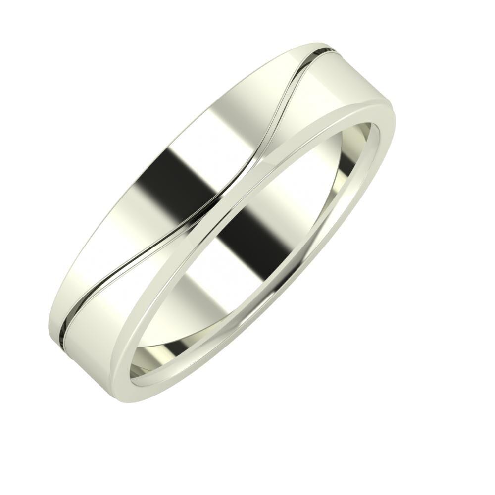 Adelinda - Aisa 5mm 14 karátos fehér arany karikagyűrű