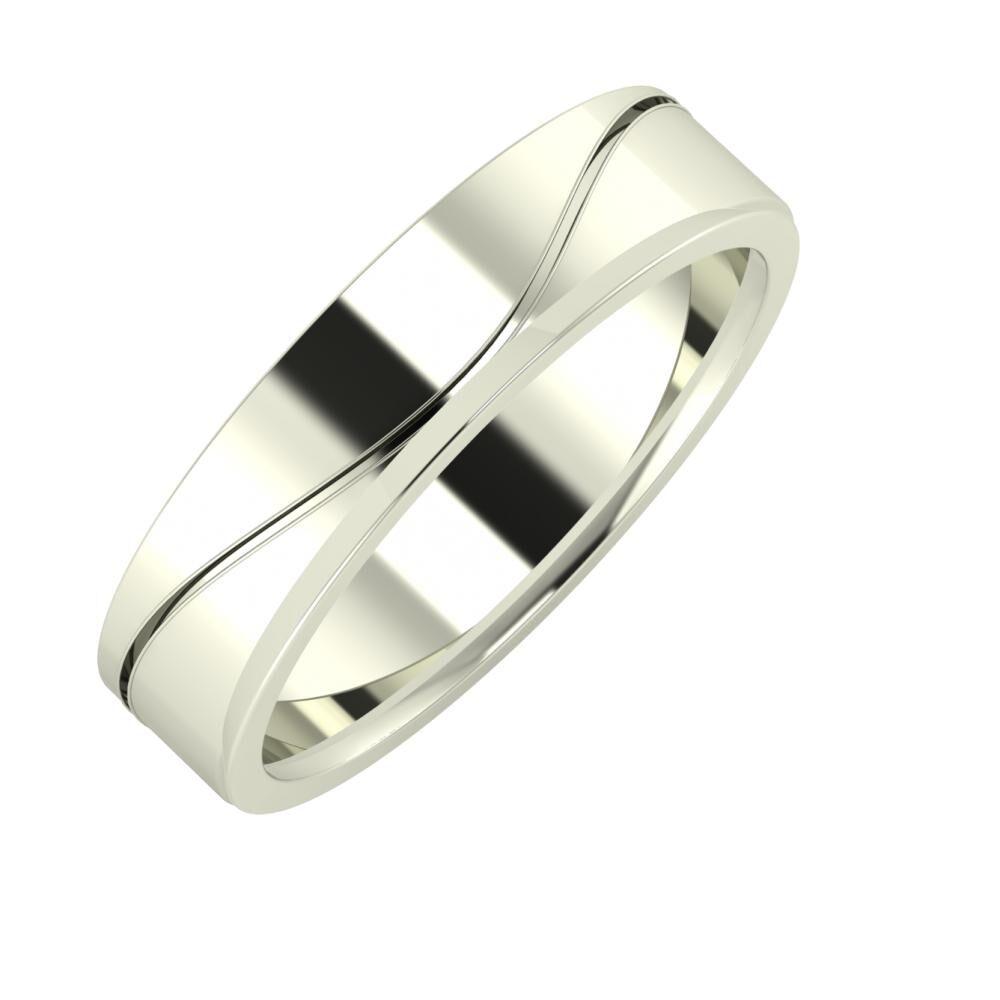 Adelinda - Aisa 5mm 18 karátos fehér arany karikagyűrű
