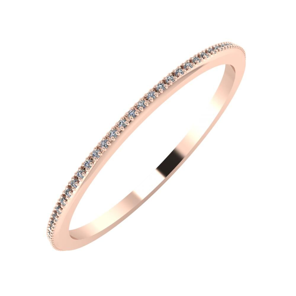 Alóma 1mm 14 karátos rosé arany karikagyűrű