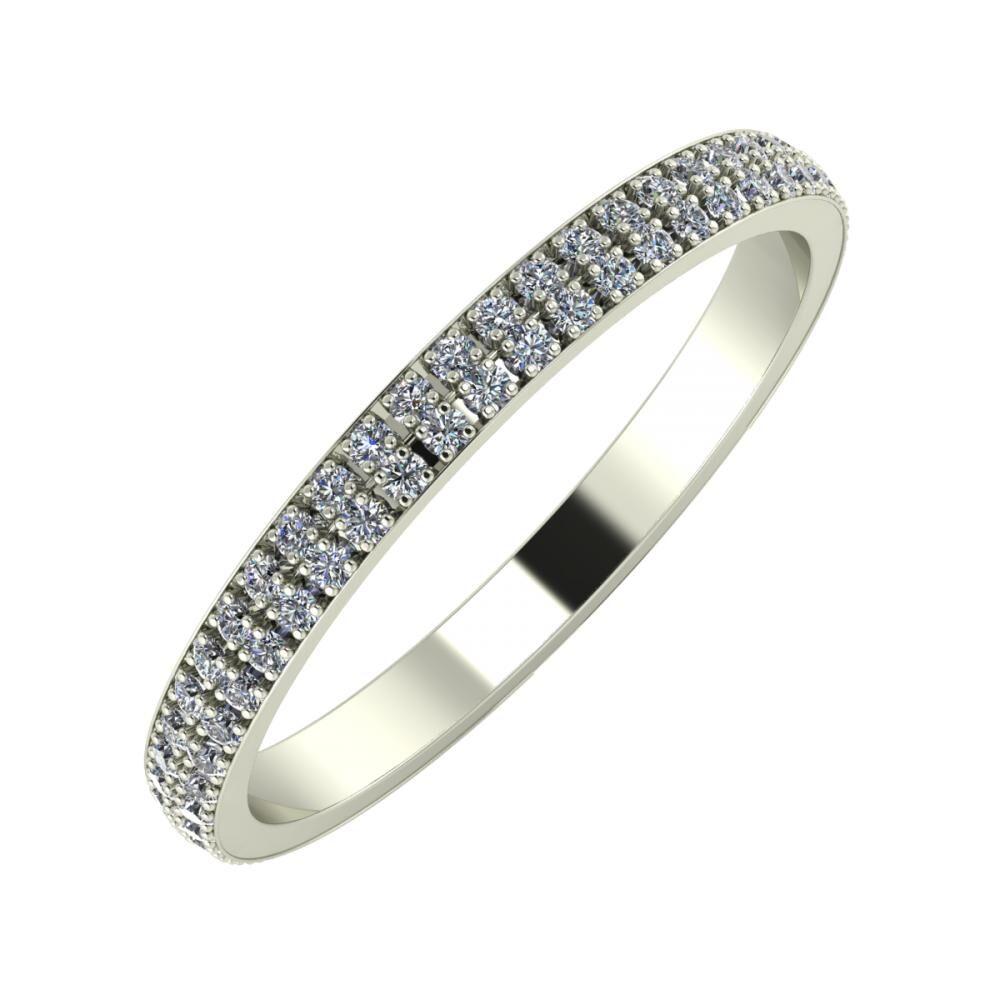 Alóma 2mm 14 karátos fehér arany karikagyűrű