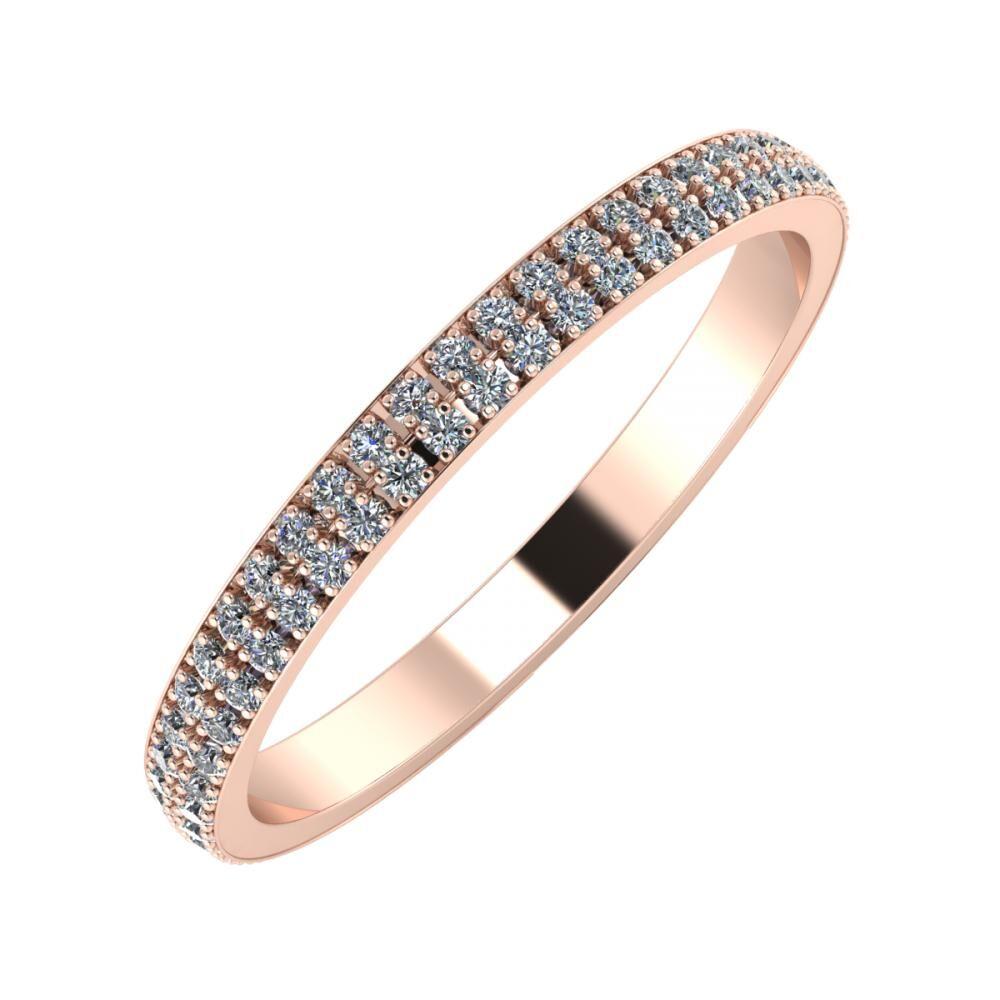 Alóma 2mm 14 karátos rosé arany karikagyűrű