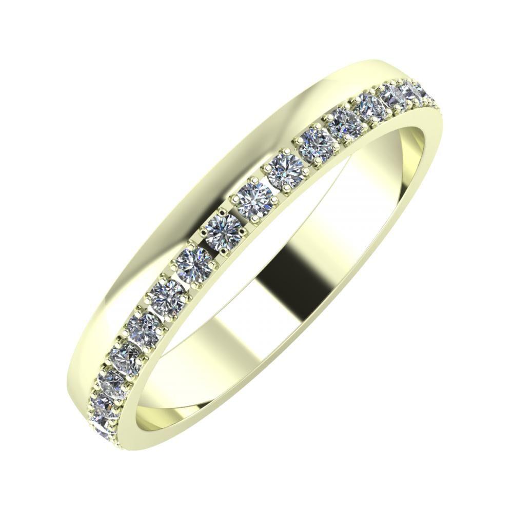 Ama 3mm 22 karátos fehér arany karikagyűrű