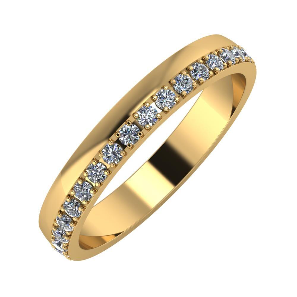 Ama 3mm 18 karátos sárga arany karikagyűrű