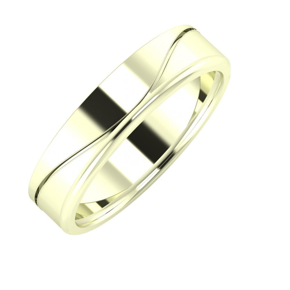 Adelinda - Aletta 5mm 22 karátos fehér arany karikagyűrű