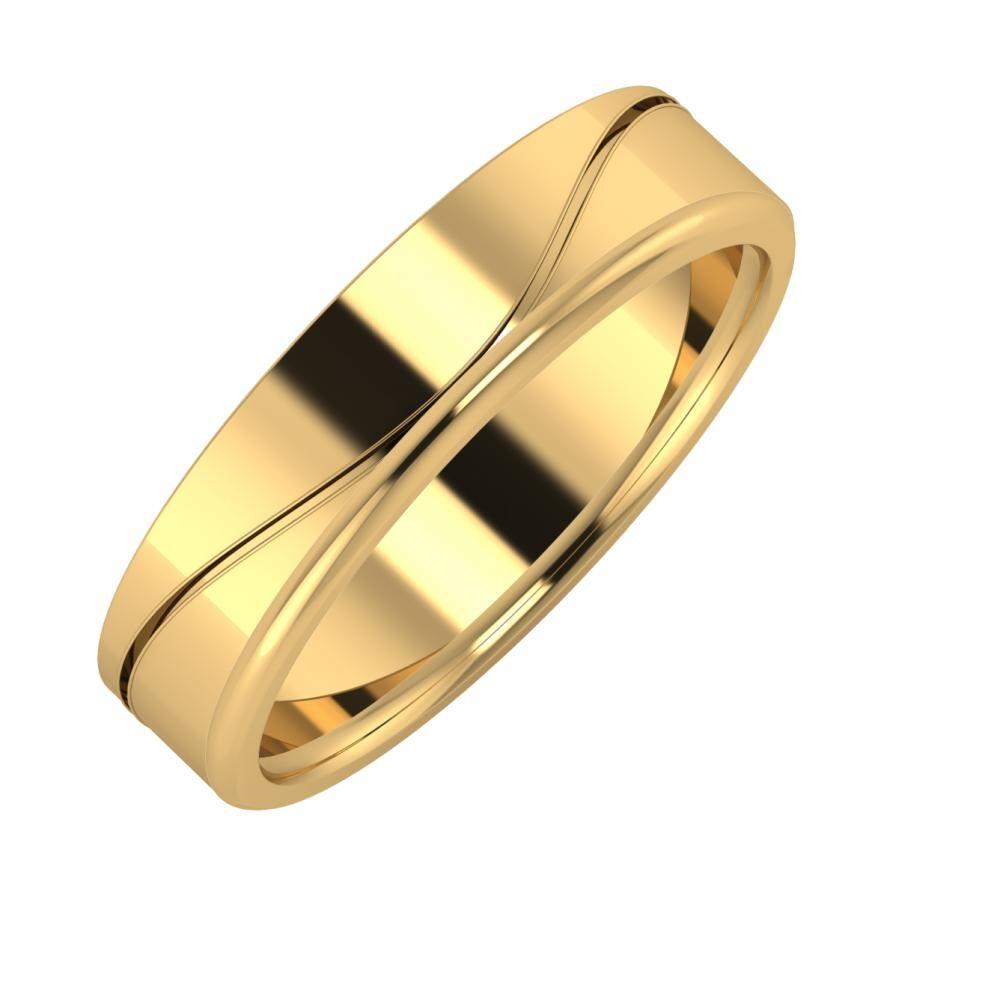 Adelinda - Aletta 5mm 18 karátos sárga arany karikagyűrű
