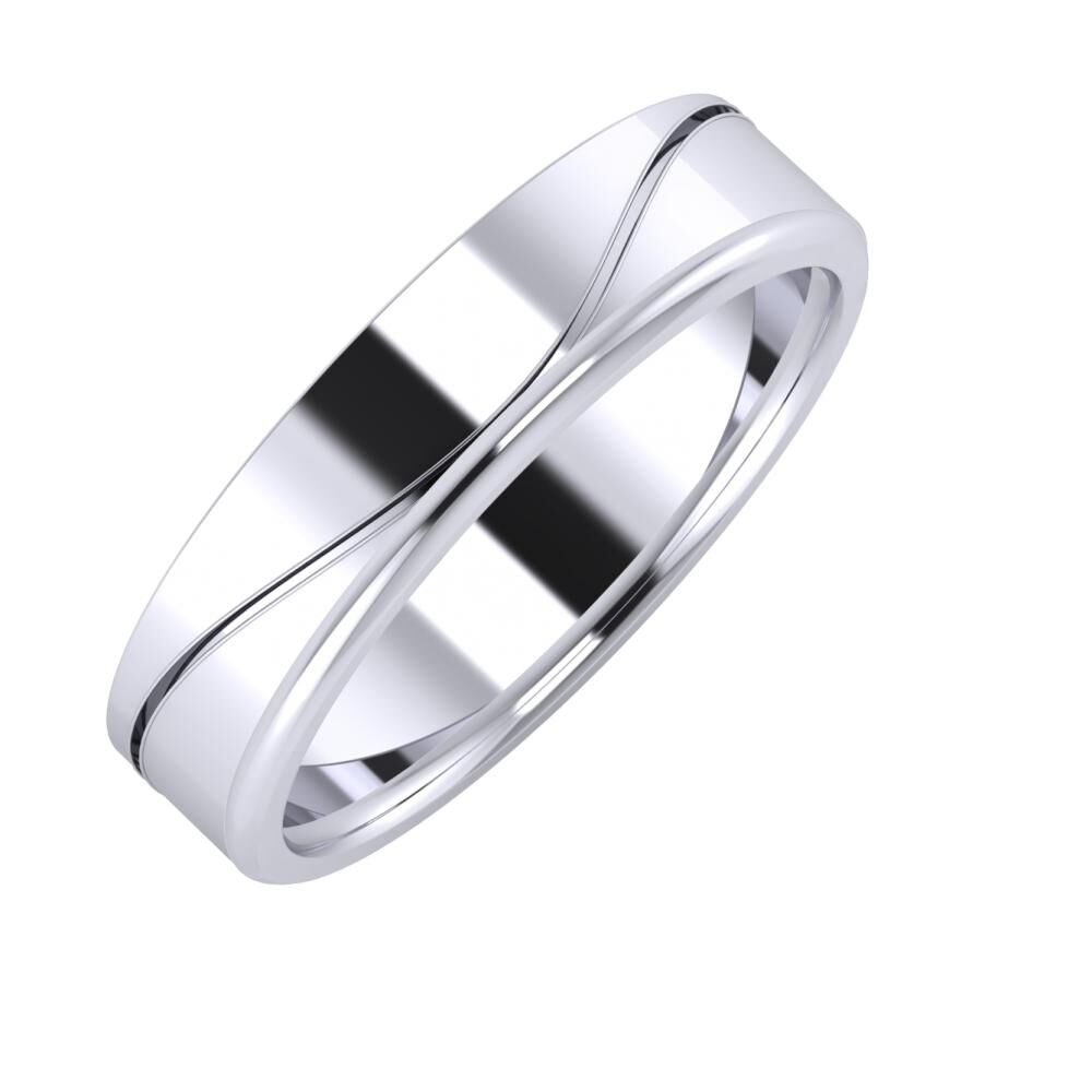 Adelinda - Aletta 5mm platina karikagyűrű