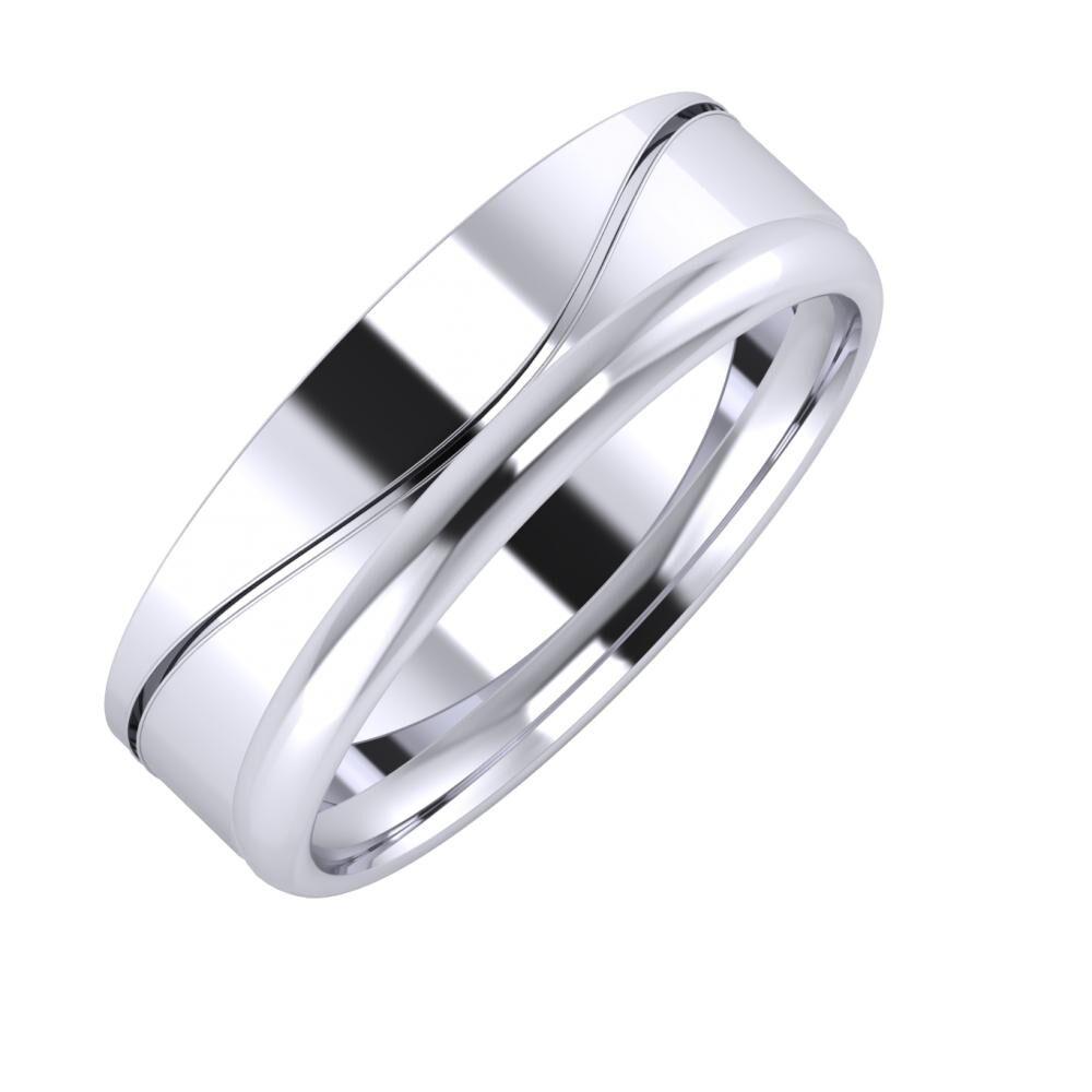 Adelinda - Alexa 6mm platina karikagyűrű