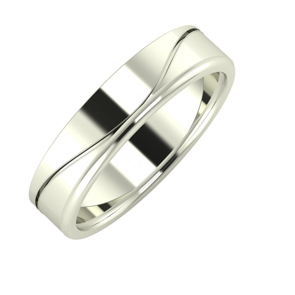 Adelinda - Alexandra 5mm 14 karátos fehér arany karikagyűrű