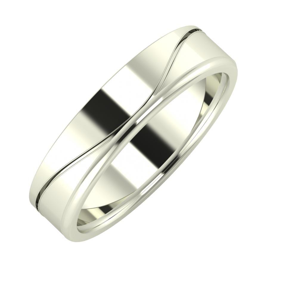 Adelinda - Alexandra 5mm 18 karátos fehér arany karikagyűrű