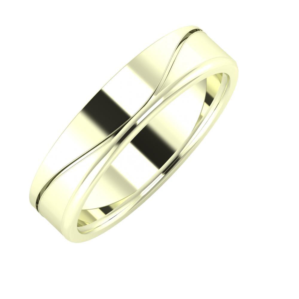Adelinda - Alexandra 5mm 22 karátos fehér arany karikagyűrű