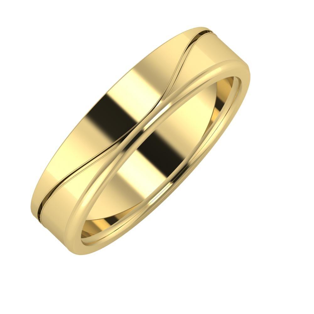 Adelinda - Alexandra 5mm 14 karátos sárga arany karikagyűrű