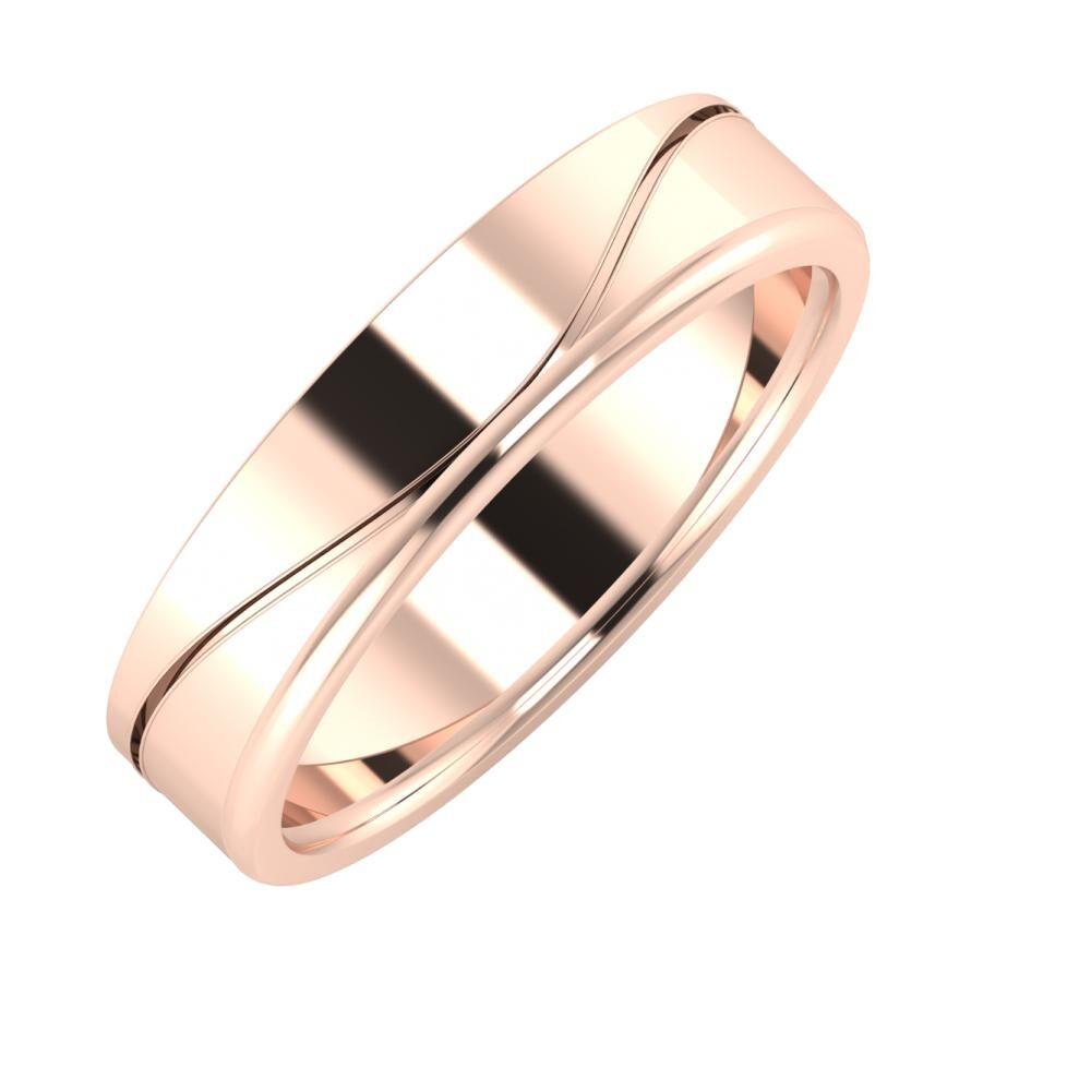 Adelinda - Alexandra 5mm 14 karátos rosé arany karikagyűrű