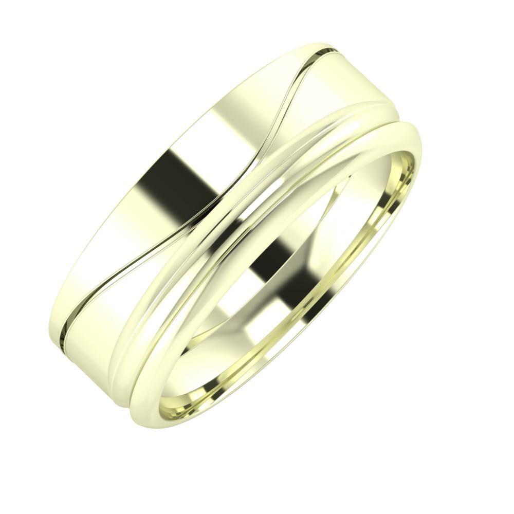 Adelinda - Alexandrin 7mm 22 karátos fehér arany karikagyűrű