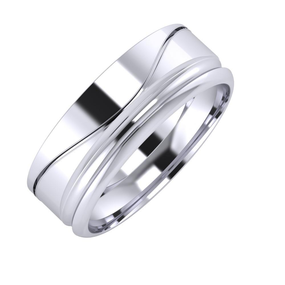 Adelinda - Alexandrin 7mm platina karikagyűrű