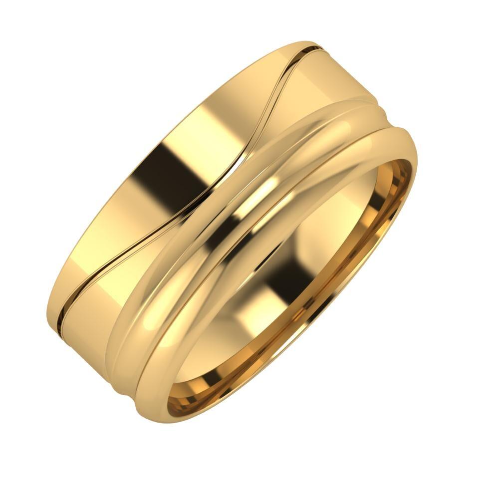 Adelinda - Alexandrin 8mm 18 karátos sárga arany karikagyűrű