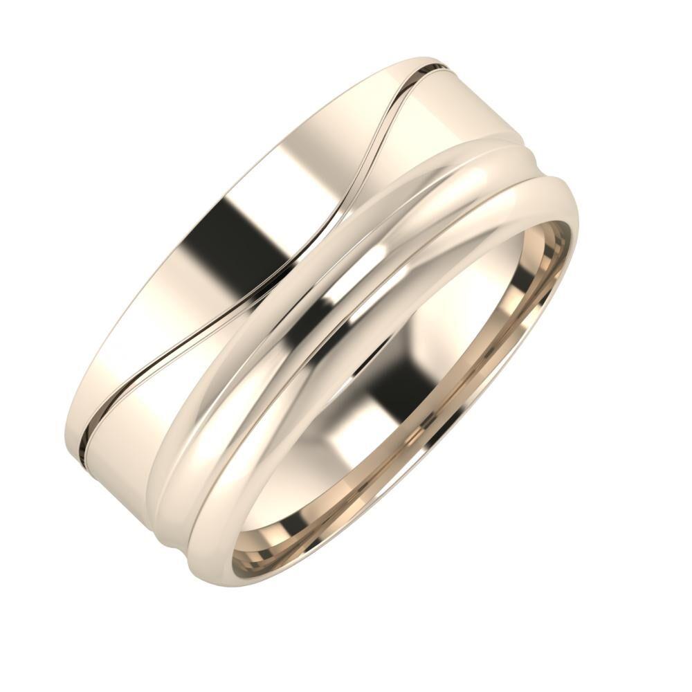 Adelinda - Alexandrin 8mm 22 karátos rosé arany karikagyűrű