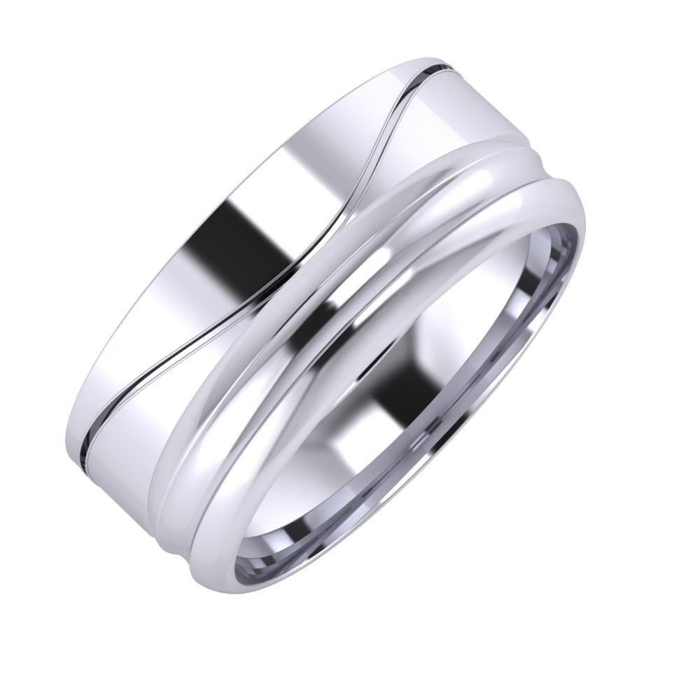 Adelinda - Alexandrin 8mm platina karikagyűrű