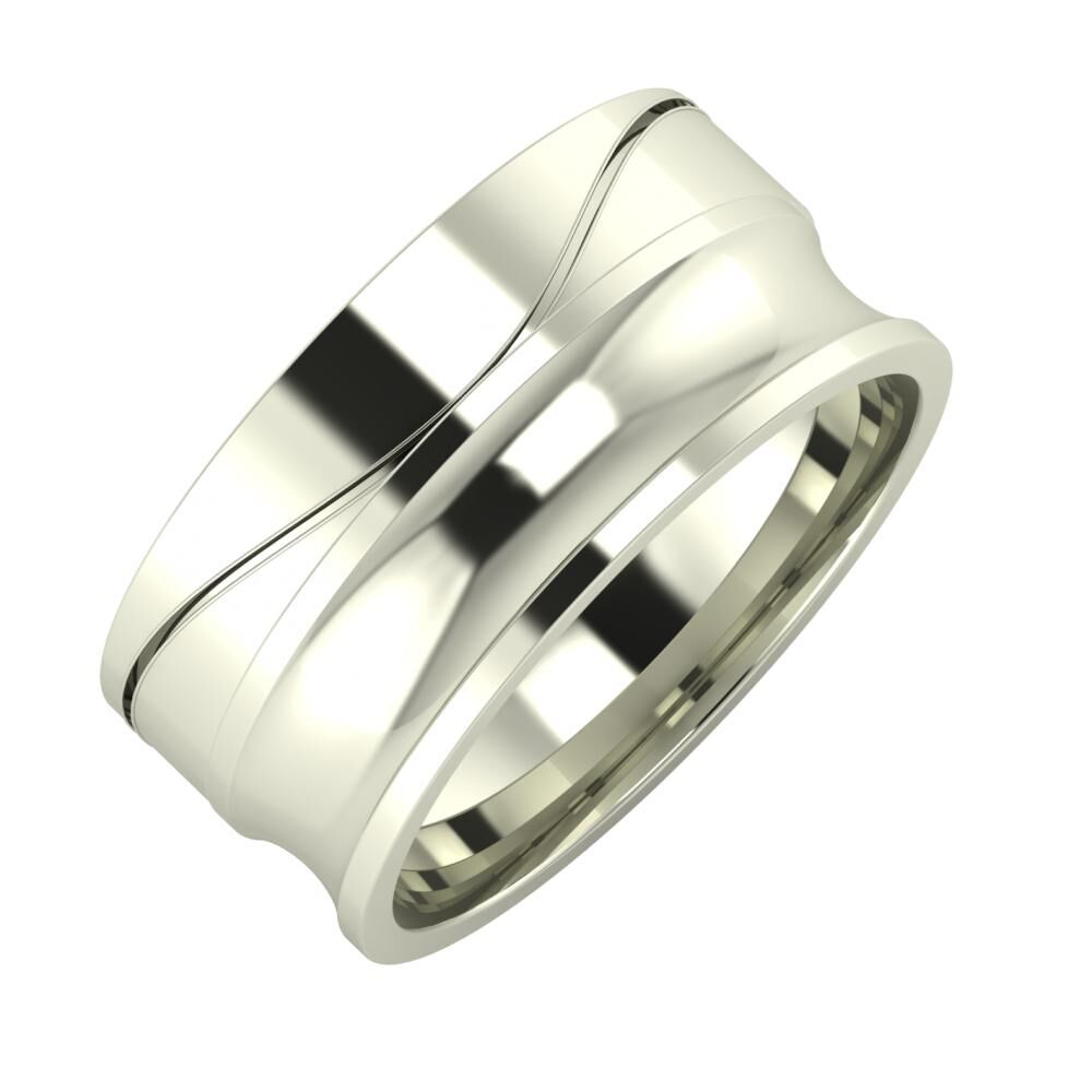 Adelinda - Alexandrina 9mm 18 karátos fehér arany karikagyűrű