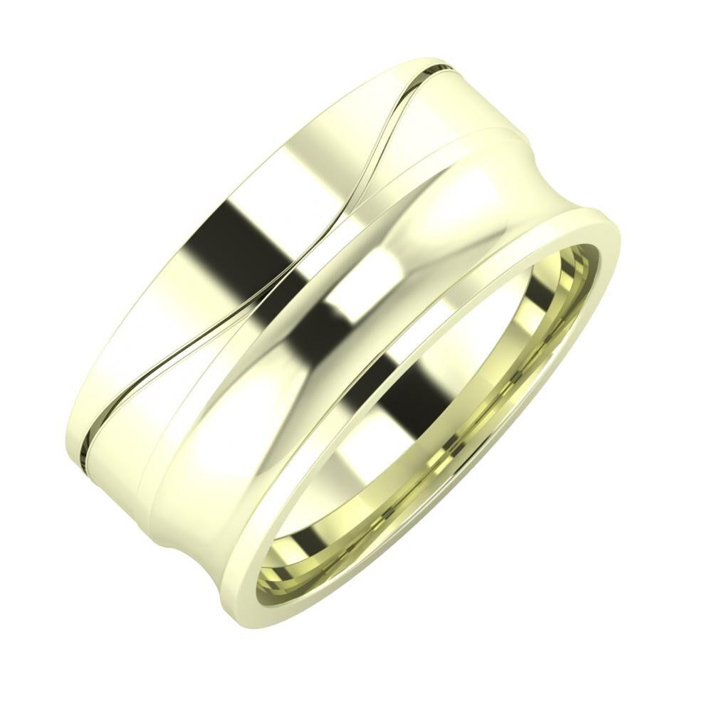 Adelinda - Alexandrina 9mm 22 karátos fehér arany karikagyűrű