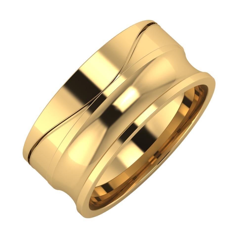 Adelinda - Alexandrina 9mm 22 karátos sárga arany karikagyűrű