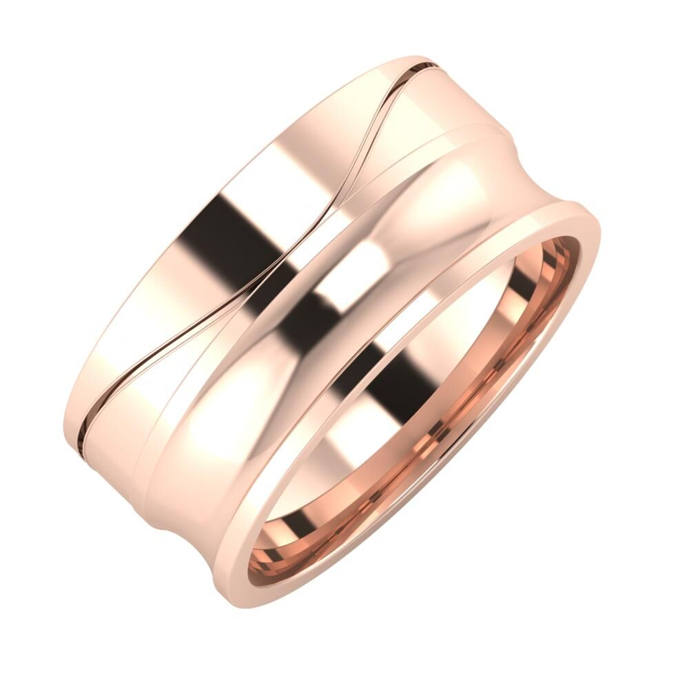 Adelinda - Alexandrina 9mm 18 karátos rosé arany karikagyűrű