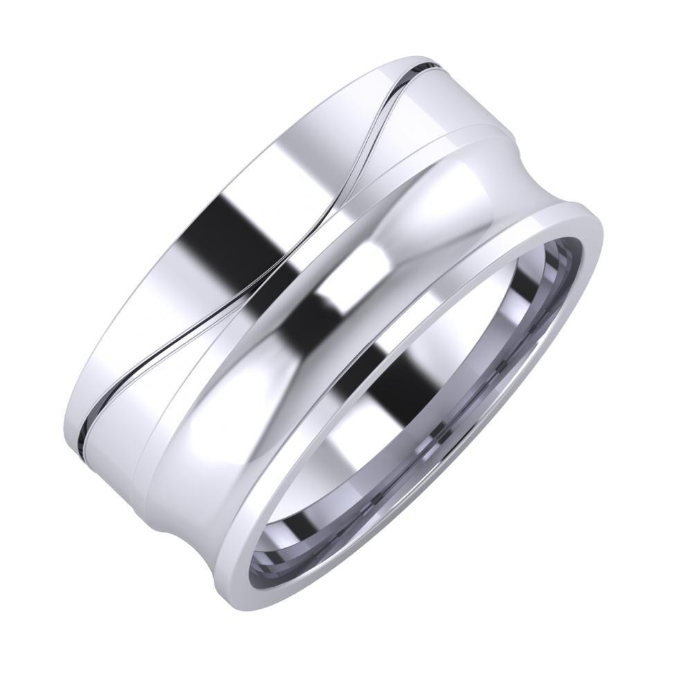 Adelinda - Alexandrina 9mm platina karikagyűrű