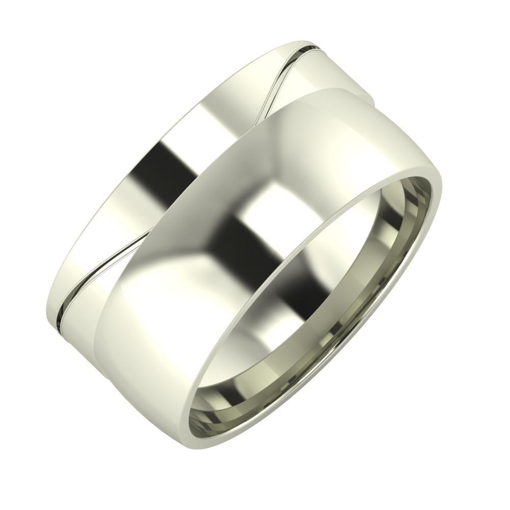 Adelinda - Alma 10mm 18 karátos fehér arany karikagyűrű