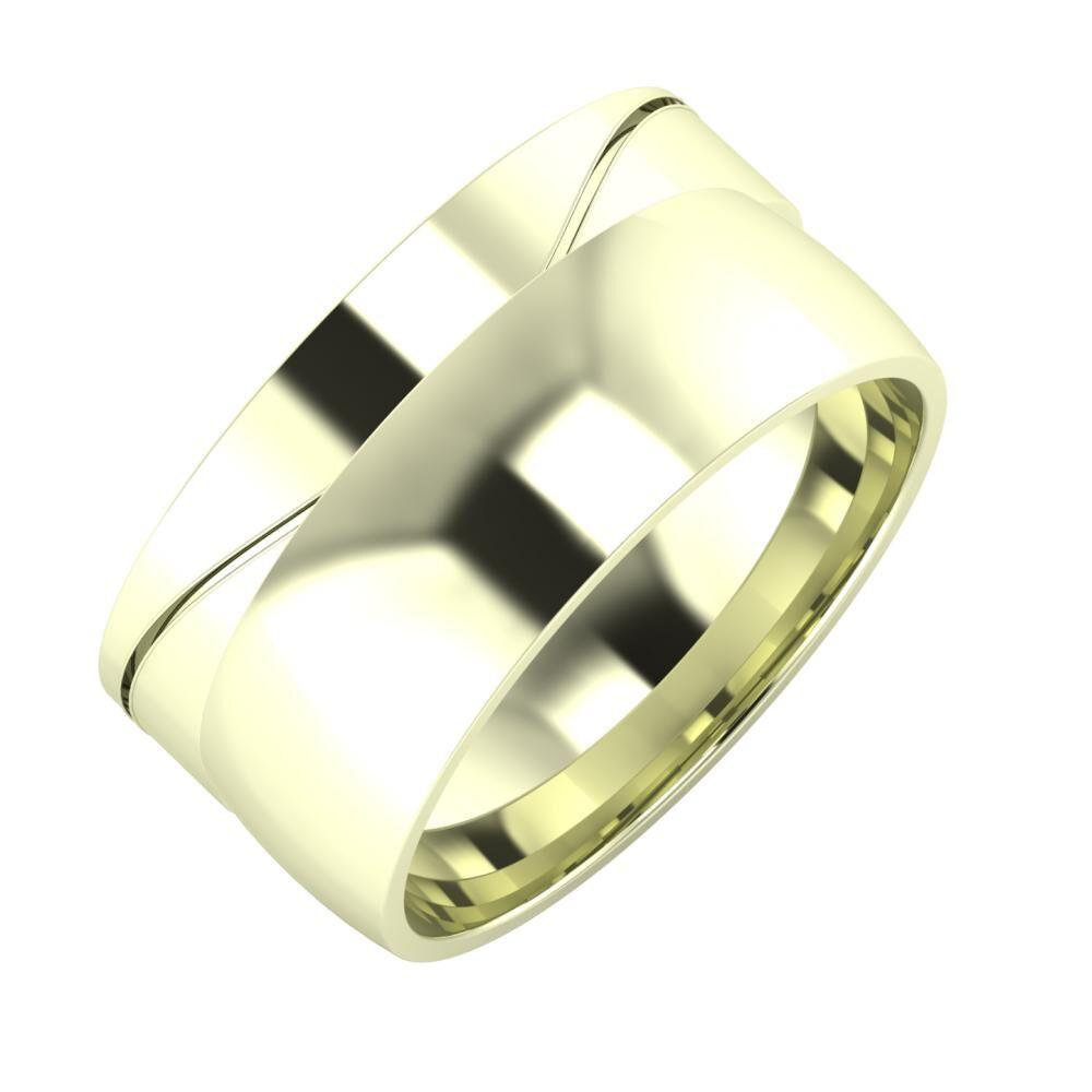 Adelinda - Alma 10mm 22 karátos fehér arany karikagyűrű
