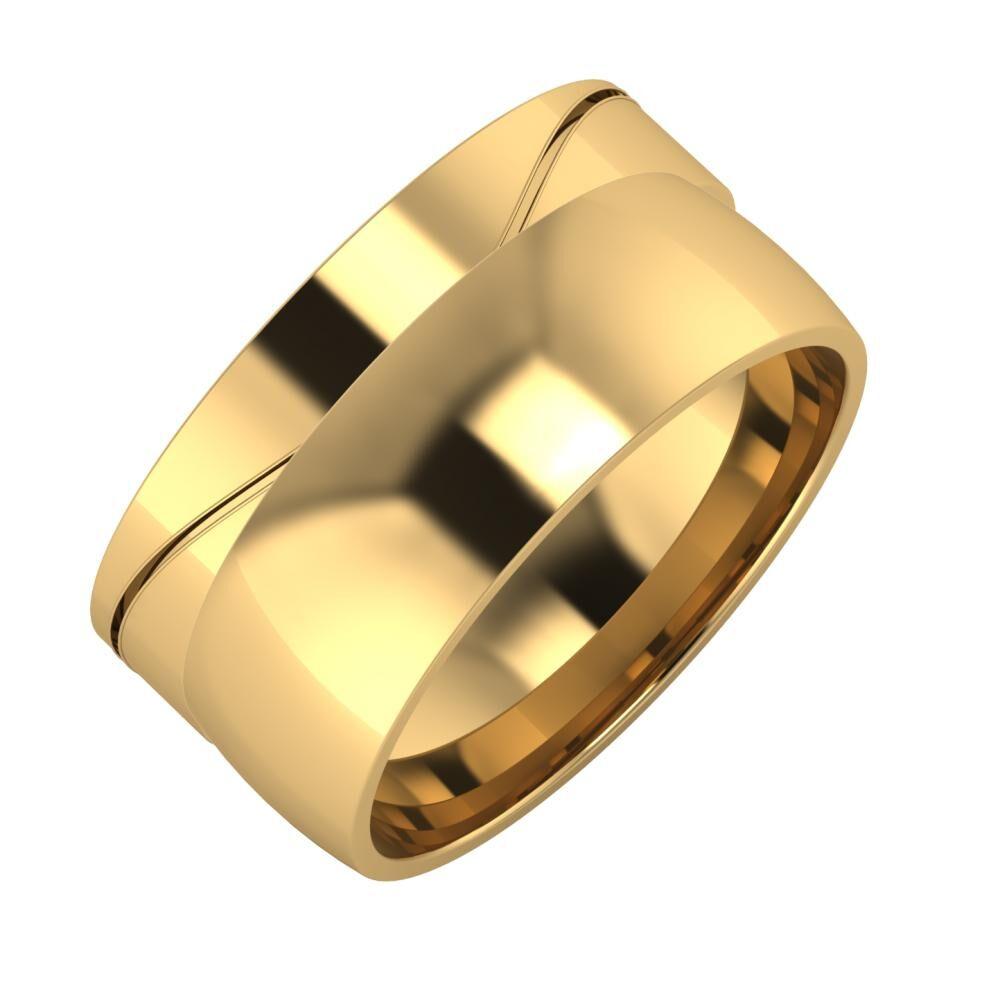 Adelinda - Alma 10mm 18 karátos sárga arany karikagyűrű