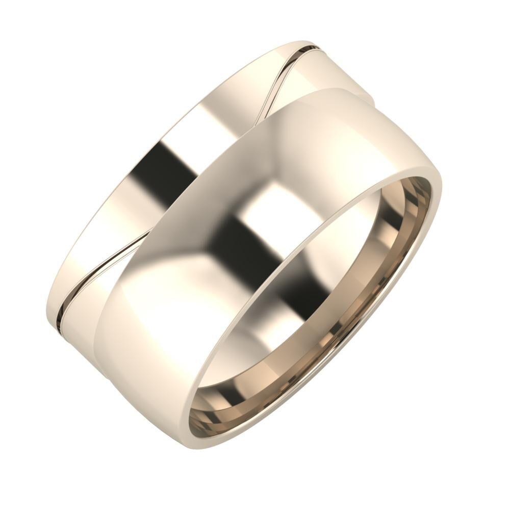 Adelinda - Alma 10mm 22 karátos rosé arany karikagyűrű