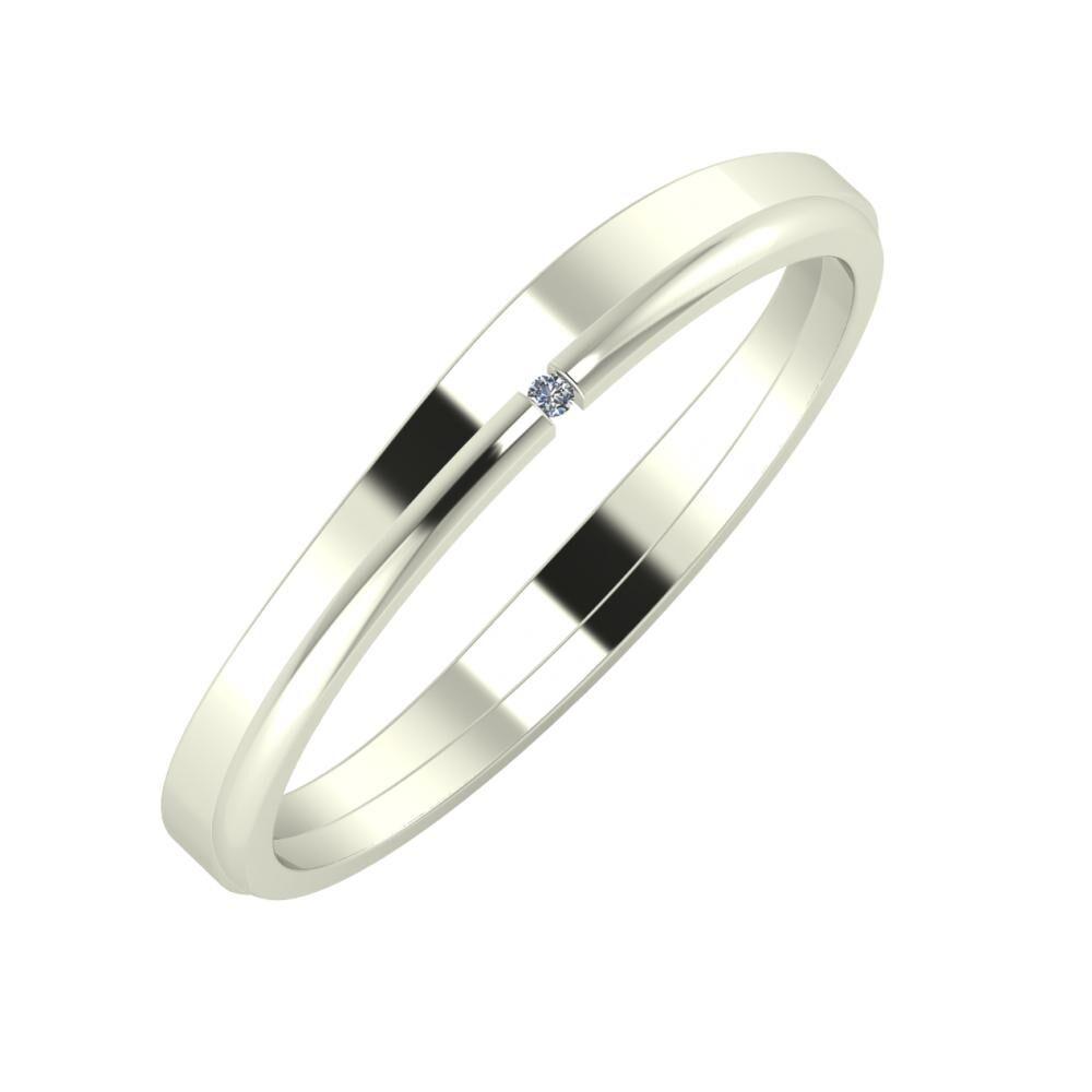 Adria - Adalind 3mm 14 karátos fehér arany karikagyűrű
