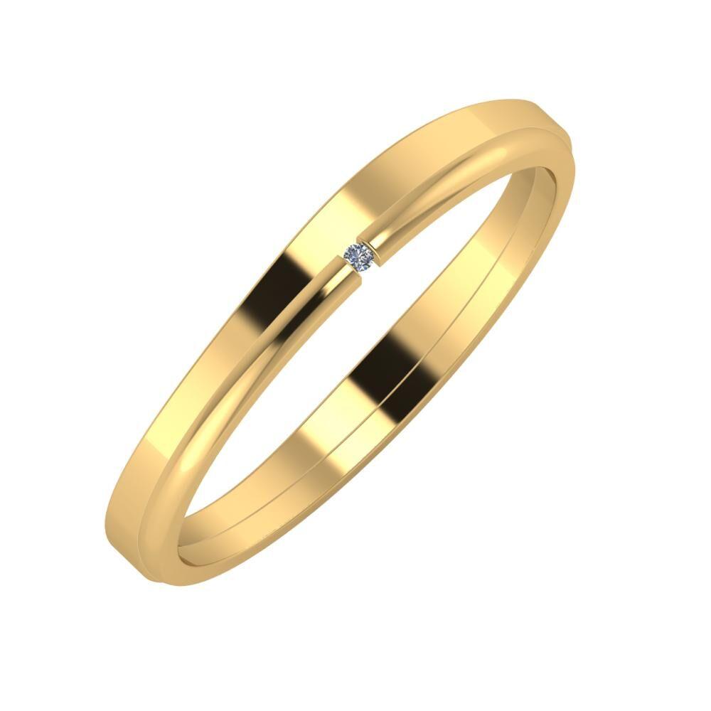 Adria - Adalind 3mm 18 karátos sárga arany karikagyűrű