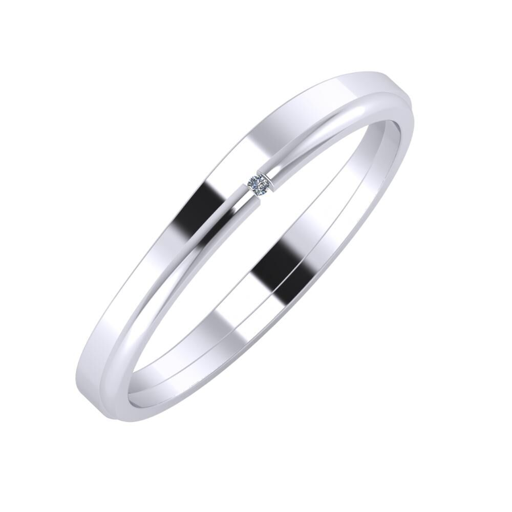 Adria - Adalind 3mm platina karikagyűrű